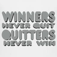 Design ~ Winners Never Quit Kids Classic t-shirt