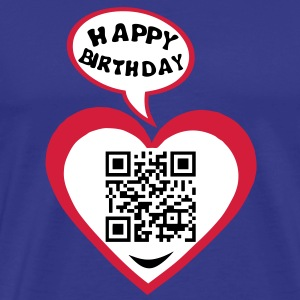 18 years big kisses code qr happy birthd Tee shirts - T-shirt Premium Homme