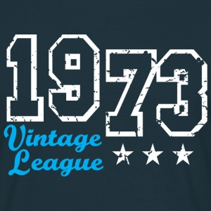 Vintage League 1973 Birthday Design T-Shirt - Mannen T-shirt