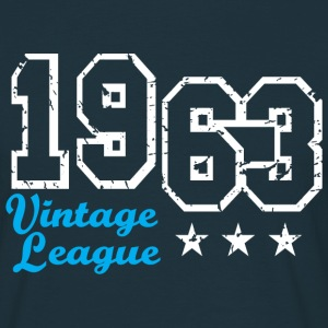 Vintage League 1963 Birthday Design T-Shirt - T-skjorte for menn
