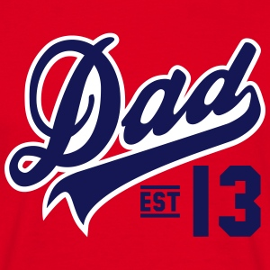 Dad ESTABLISHED 2013 2C T-Shirt NW - Mannen T-shirt