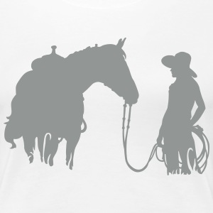 horse and woman T-shirts - Vrouwen Premium T-shirt