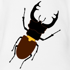 stag_ beetle_2_c1 Shirts - Organic Short-sleeved Baby Bodysuit