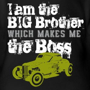 big brother  T-Shirts - Baby Bio-Kurzarm-Body