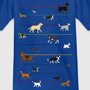 Dogs on a leash 1 Tee shirts - T-shirt Ado