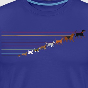 Dogs on a leash 2 T-skjorter - Premium T-skjorte for menn