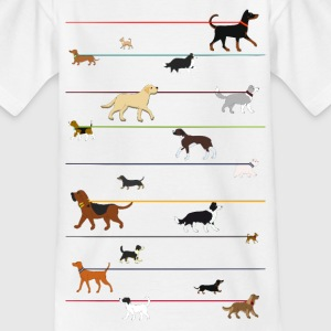 Dogs on a leash 1 T-shirts - T-shirt barn
