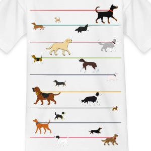Dogs on a leash 1 Shirts - Kinderen T-shirt