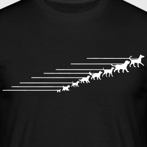 Dogs on a leash 5 T-shirts - Mannen T-shirt