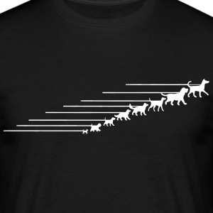 Dogs on a leash 5 T-shirts - Herre-T-shirt