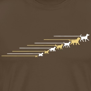 Dogs on a leash 5 T-skjorter - Premium T-skjorte for menn