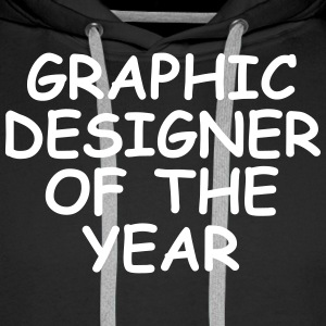 Graphic Designer Of The Year Sudaderas - Sudadera con capucha premium para hombre