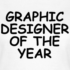 Graphic Designer Of The Year T-shirts - Dame-T-shirt