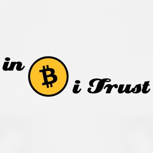 bitcoin, btc, in Bitcoin i trust T-Shirts - Men's Premium T-Shirt