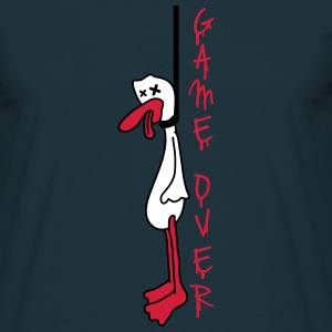Hanged Duck Game Over T-shirts - T-shirt herr