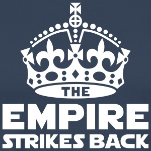 the empire strikes back crown Koszulki - Koszulka męska Premium