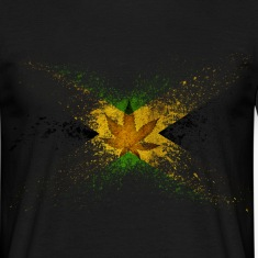 Jamaica Flag Graffiti T-Shirts