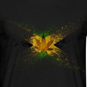 Jamaica Flag Graffiti T-Shirts - Men's T-Shirt