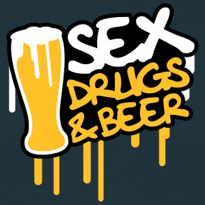 Sex Drugs And Beer Camisetas - Camiseta hombre