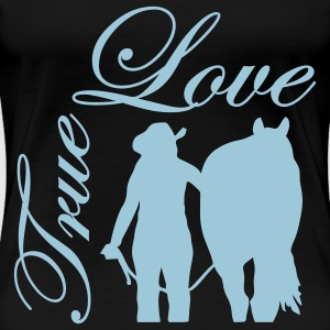 True Love Cowgirl Horse T-Shirts - Women's Premium T-Shirt