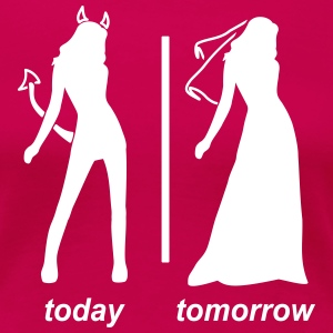 bride today tomorrow T-skjorter - Premium T-skjorte for kvinner