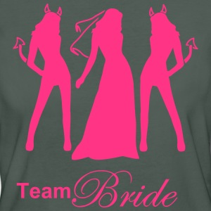 team bride T-shirts - Vrouwen Bio-T-shirt