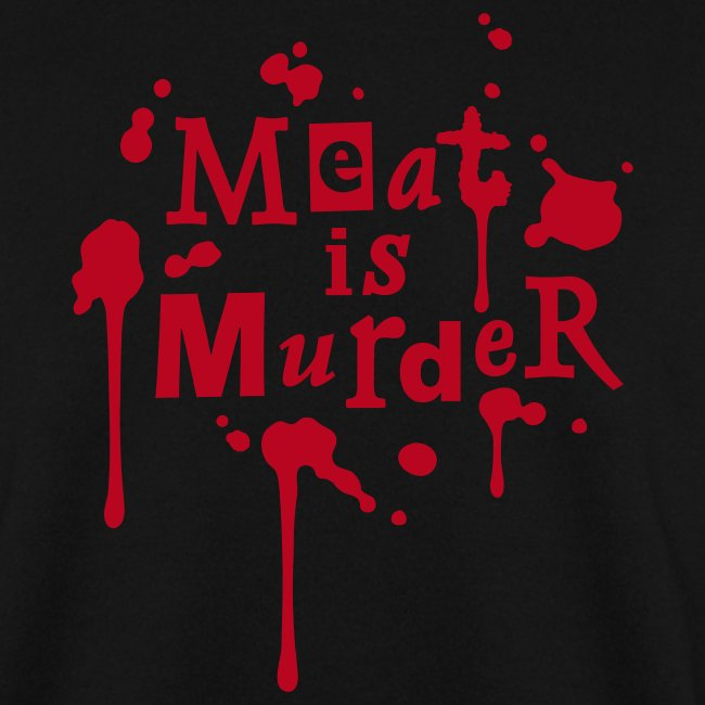 Mens Pullover 'Meat is Murder'