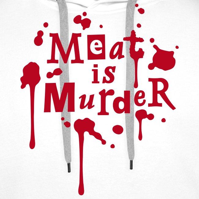 Mens Hoodie 'Meat is Murder' W