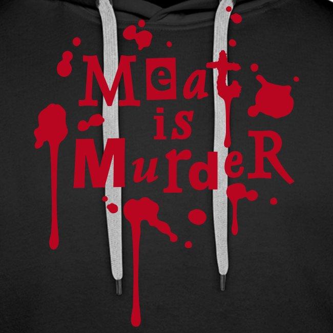 Mens Hoodie 'Meat is Murder'