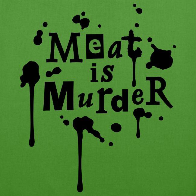 BIO-Stofftasche 'Meat is Murder' Red