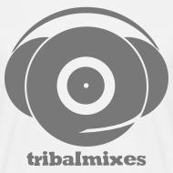 Design ~ Classic Full Size Logo + Tribalmixes text (design 1, Grey)