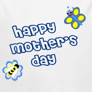 Happy mother's day Pullover & Hoodies - Baby Bio-Langarm-Body
