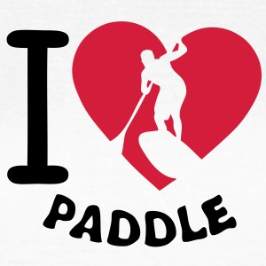 love paddle coeur board heart2 Tee shirts - T-shirt Femme