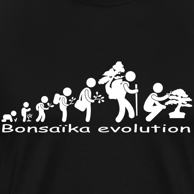 T-Shirt Homme Bonsaïka evolution texte Blanc