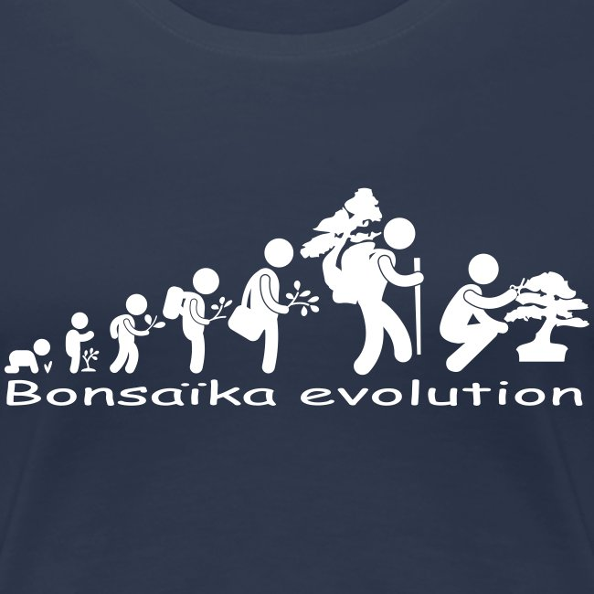 T-Shirt Femme Bonsaïka evolution texte Blanc