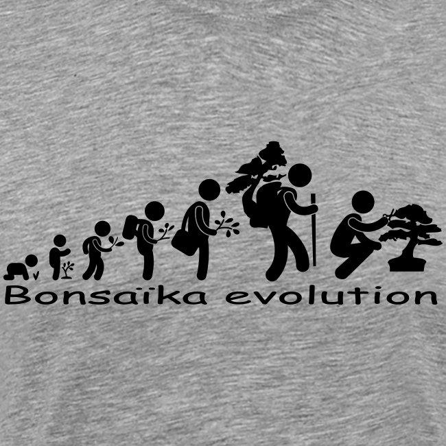 T-Shirt Homme Bonsaïka evolution texte Noir