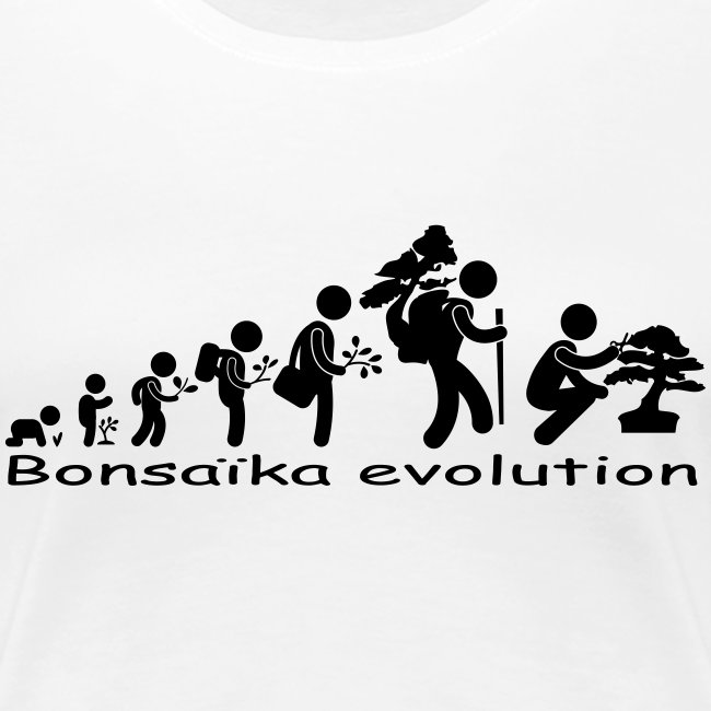 T-Shirt Femme Bonsaïka evolution texte Noir