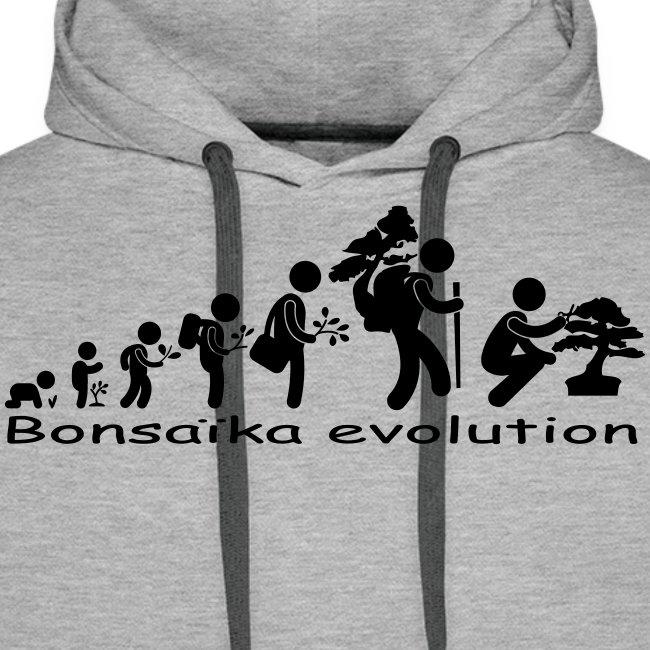 Sweat-Shirt picto Bonsaïka evolution texte noir