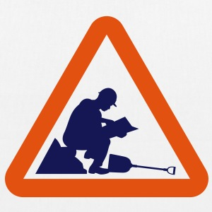 Warning Construction Worker (2c)++2013 Taschen - Bio-Stoffbeutel