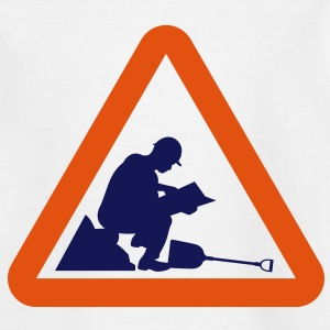 Warning Construction Worker (2c)++2013 Shirts - Kinderen T-shirt