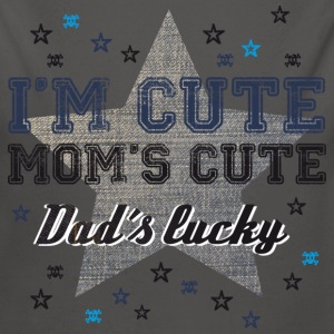 I'm cute, Mom's cute, Dad's lucky Pullover & Hoodies - Baby Bio-Langarm-Body