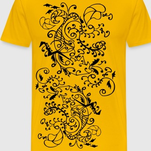 Unique flora line pattern Men's Classic T-Shirt - Men's Premium T-Shirt