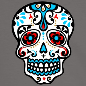Skull, Mexico, flowers, patterns, skulls, mexican, T-Shirts - Men's Ringer Shirt