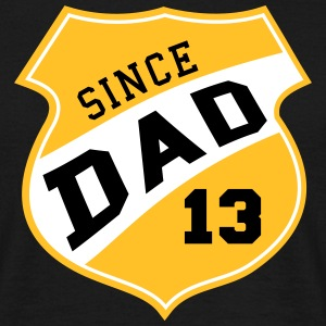 DAD SINCE 2013 Shield Design 3C T-Shirt YE - Men's T-Shirt