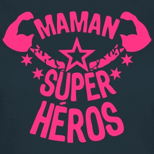 maman super heros etoile muscle bras Tee shirts - T-shirt Femme