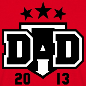 DAD 2013 3star Shield Design T-Shirt 2C BW - Men's T-Shirt