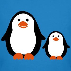 Penguin with Baby T-shirts - Mannen Bio-T-shirt