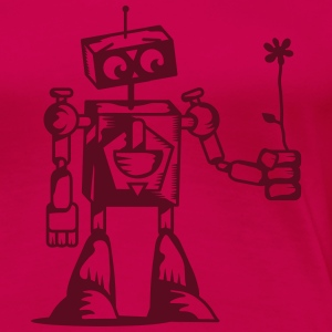 A robot with a flower T-Shirts - Women's Premium T-Shirt
