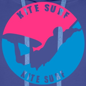 kitesurf vague3 logo tampon 14122 Sweat-shirts - Sweat-shirt à capuche Premium pour hommes