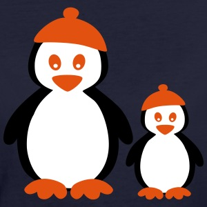 Penguins with Beanie T-shirts - Ekologisk T-shirt dam